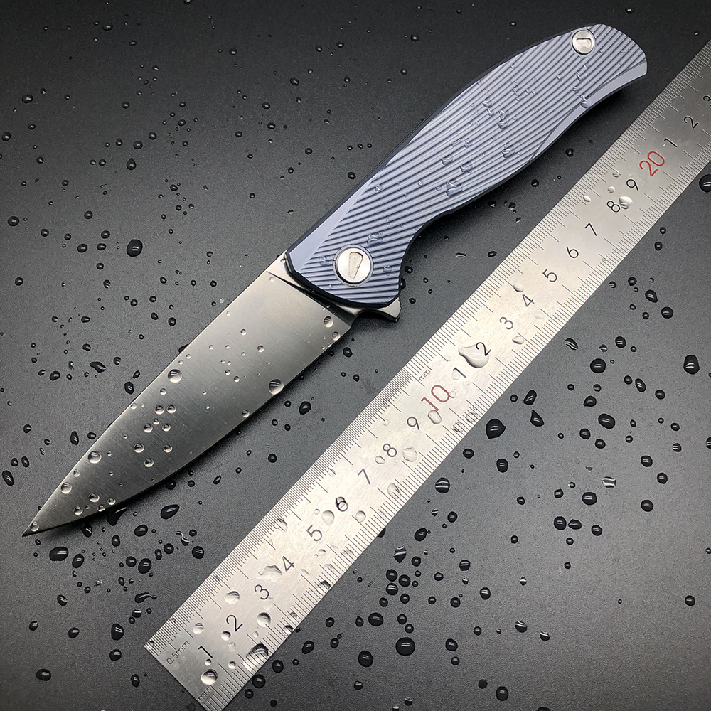 BMT Bear F95 D2 Blade Titanium Handle Icebreaker Skládací nůž Kapesní přežití Nůž Outdoor Camping Lovecké nože EDC Tools