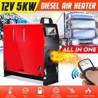 Tout en un Air diesels chauffage 1KW-8KW réglable 12V un trou voiture chauffage pour camions camping-cars bateaux Bus + LCD interrupteur à clé + télécommande
