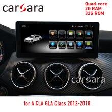 """10.25 """"헤드 유닛 dvd 안드로이드 터치 스크린 CLA GLA A 클래스 W176 2013-2018 GPS 네비게이션 라디오 스테레오 대시 멀티미디어 플레이어"""