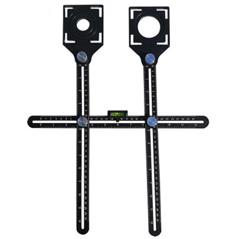 Double Head Folding Ruler Tile Hole Locator Universal Adjustable Masonry Glass Fixed Perforated Hand Tool