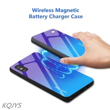 5000mAh Wireless Magnetic Battery Charging Case For iPhone X Xs Max Portable Power Bank Case For iPhone XR Power Case