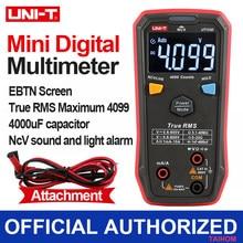 UNI T UT123D multimetro automatico digitale Smart ACDC NCV resistenza diodo condensatore Tester macchina misuratore di capacità con cavi