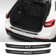 Adesivo para carros lincoln aviador continental navigator mkz mkt mkc mks mkx acessórios do carro de fibra carbono tronco decalque