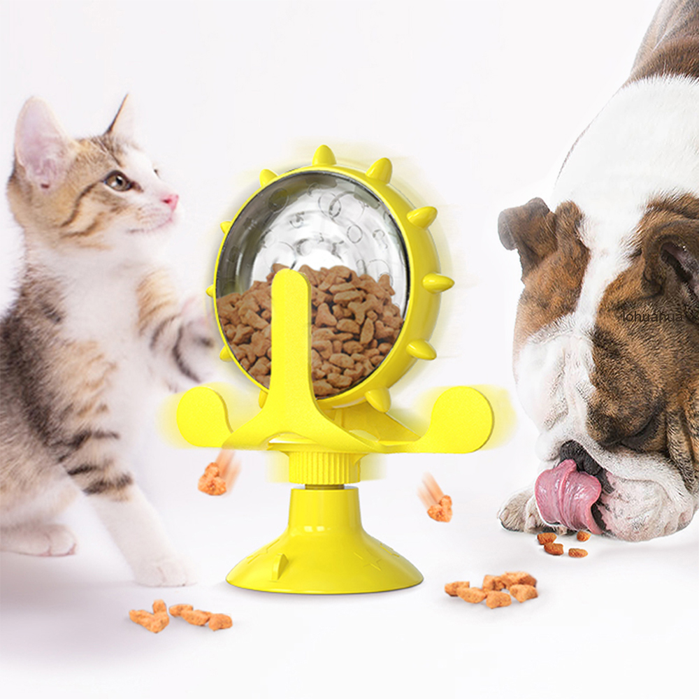 Interactive Treat Leaking Toy for Small Dogs/Cats Slow Dog/Cat Feeder Funny Wheel Pet Products Accessories 1