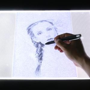 Image 5 - A3 LED 描画コピーボードライトボックスタッチ制御描画トレースアニメーションコピーボードテーブルパッドパネルプレートアクリルマイク USB