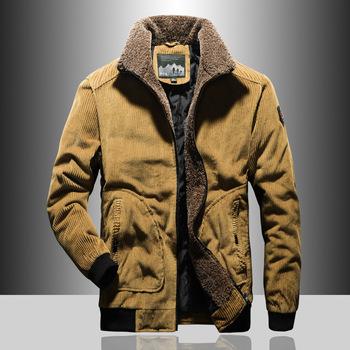 Nowa odzież męska Plus aksamitna ciepła sztruksowa bawełniana kurtka moda męska moda codzienna bawełniana odzież męska marka ciepła kurtka tanie i dobre opinie TiLeewon CN (pochodzenie) COTTON REGULAR Grube xz-m0001 zipper NONE Luźne Cekinami Stałe 1000g Na co dzień Skręcić w dół kołnierz