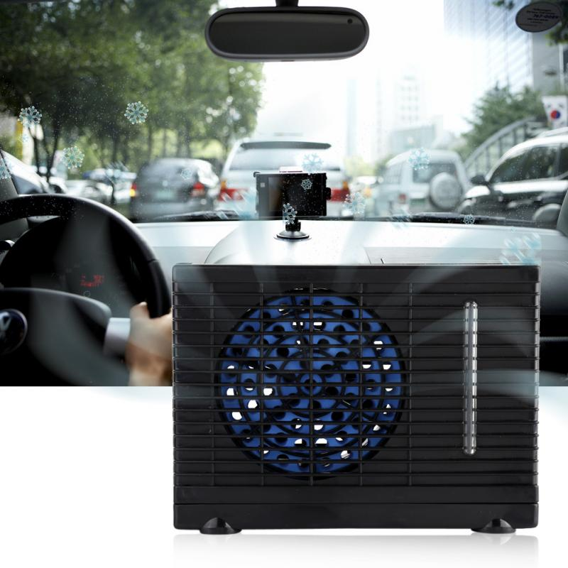 12V 30-60W Air Conditioner Fan Evaporative Water Cooler Cooling Fan Car Truck Home Air Cooler For Home Office