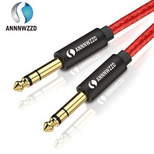 цены на 6.5mm Jack Audio Cable Nylon Braided 6.35 Jack Male to Male Aux Cable 1m 2m 3m 5m for Guitar Mixer Amplifier Bass 6.35 mm  в интернет-магазинах