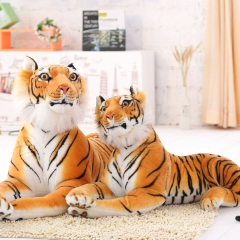 Giant 30-120CM Real Life White Tiger Stuffed Toy Lovely Tiger Baby Plush Doll Soft Pillow Children kids Christmas Gift