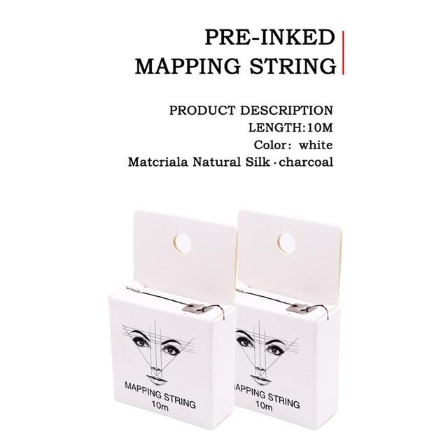 Mapping String Pre-ink String For Microblading Eyebow Make Up Dyeing Liners Thread Semi Permanent Positioning Eyebrow 4