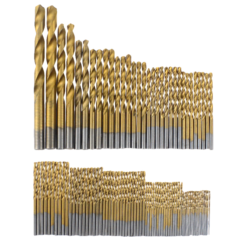 99pcs 1.5mm - 10mm Titanium HSS Drill Bits Coated Stainless Steel HSS High Speed Drill Bit Set For Electrical Dril Bits