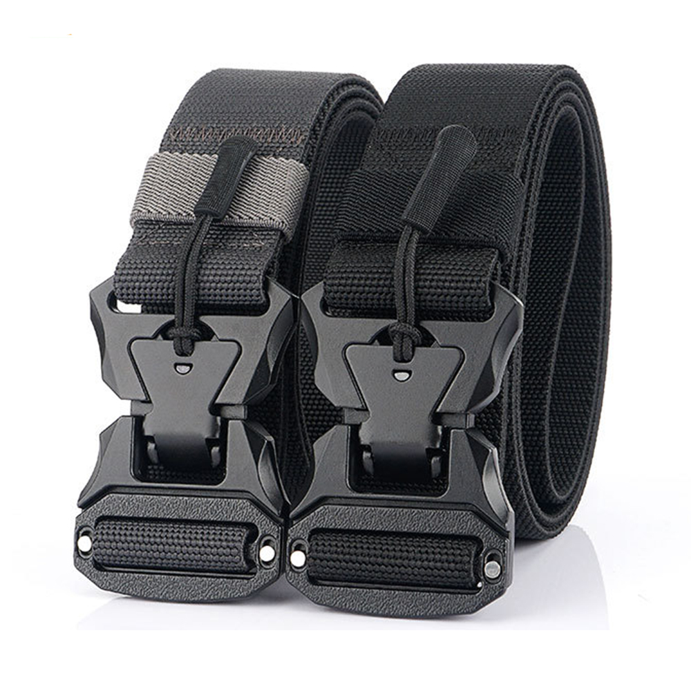Tactical Belt Genuine Stretch Versatile Military Army Waist Belt Climbing Hunting Fishing Outdoor Sport Accessories