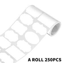 白空白黒板ラベルステッカー 8 スタイル/ロール消去可能なリムーバブル防水ラベルびんジャーpvcラベル 250 個