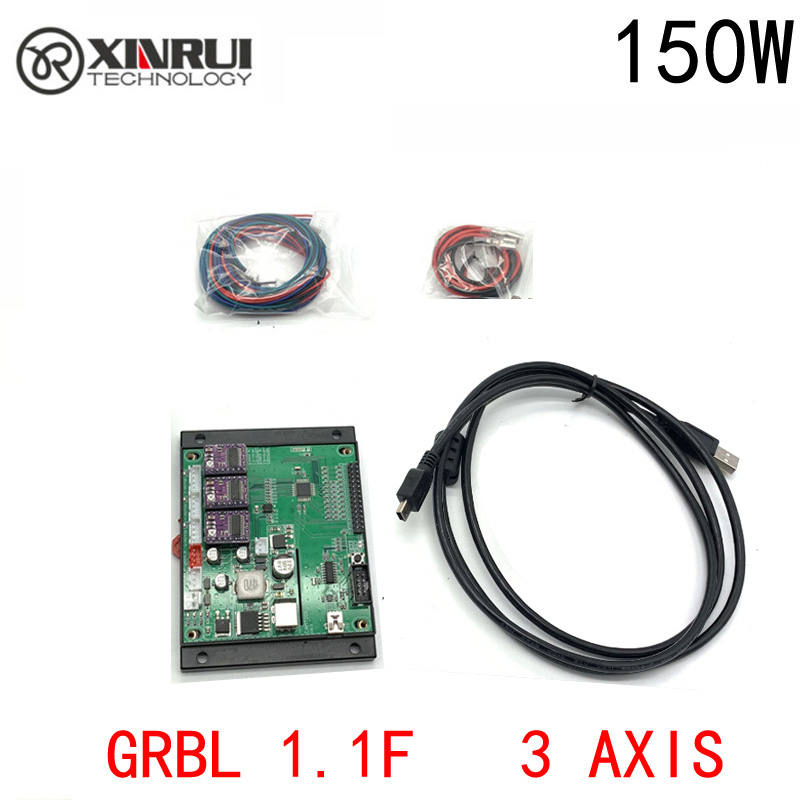 150w GRBL Cnc Engraving Machine Control Board , 3 Axis Control,laser Engraving Machine Board USB Port With Cooling Case