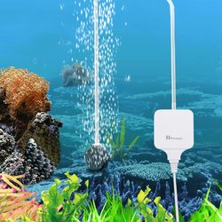 Ультратихий аквариумный воздушный насос 110 В 220 В 1,8 Вт для аквариума, нано воздушный компрессор с воздушными камнями, силиконовые трубки, ги...
