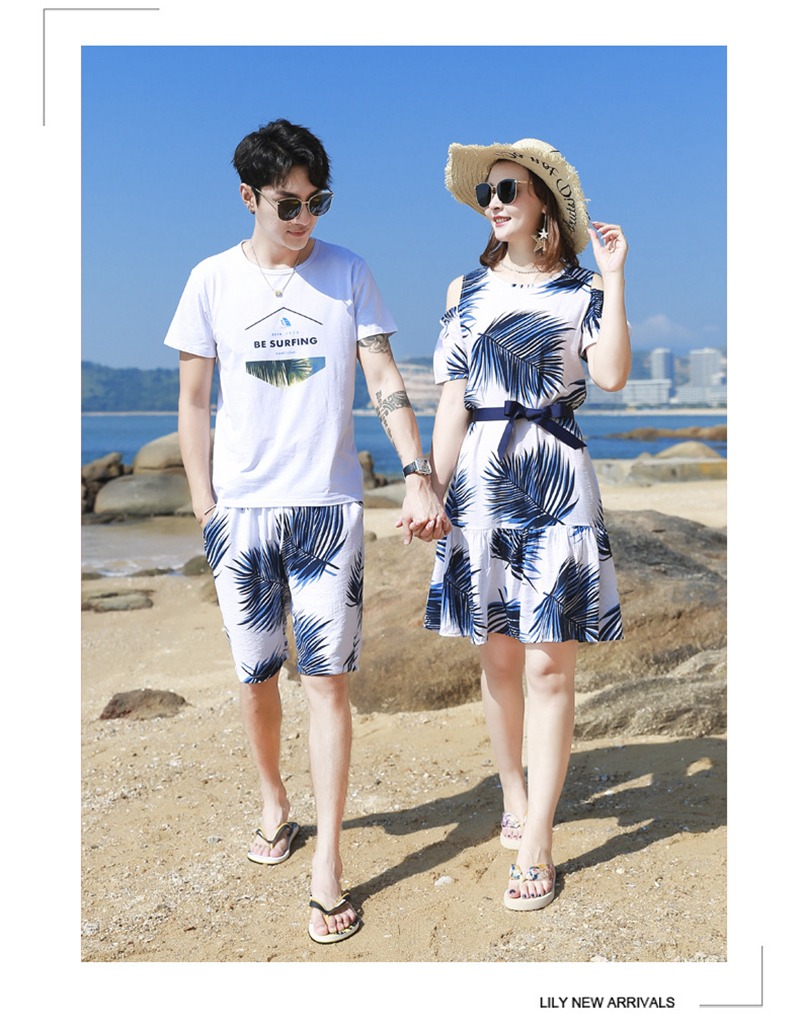 H769dbf551f4c42b98371883b6a26fad1q - Summer Family Matching Outfits Mother Daughter Beach Vocation Dresses Summer Dad Son T-shirt+Shorts Couples Matching Clothing
