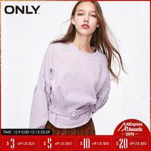 ONLY winter Loose Fit Batwing Sleeves Short Pullover Sweatshirt| 11919S554(China)
