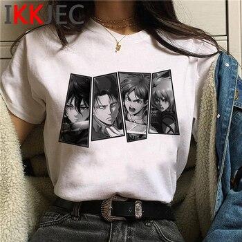 Attack on Titan Shingeki No Kyojin t-shirt t shirt female plus size harajuku ulzzang 2021 casual t-shirt aesthetic 1