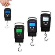 Портативные электронные весы с ЖК-дисплеем, цифровые рыбные весы, шкала подвесного крючка с голубой, зеленой, белой подсветкой, Аксессуары для рыбалки