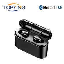 2019 Bluetooth 5.0 Earphones TWS Wireless Bluetooth Handsfree Headset Sports Stereo Earbuds Built-in Mic With Charging Box стоимость
