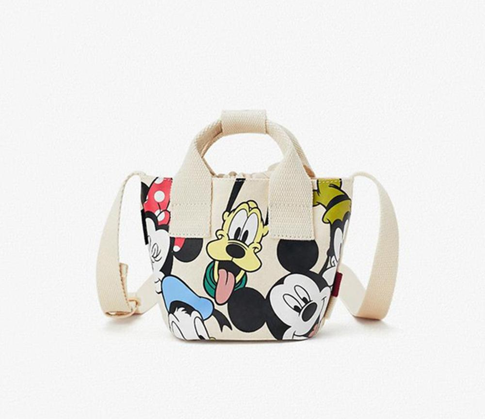 Disney Mcikey Mouse  Shoulder Bag Women 2020 New Shoulder Messenger Bag Cute Printed Canvas Bag Handbag