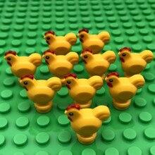 5PCS Mini Animals Blocks for Children MOC DIY Zoo Farm Building Bricks Pig Dog Rabbit Chicken Fish Small Toys Bloques Compatible