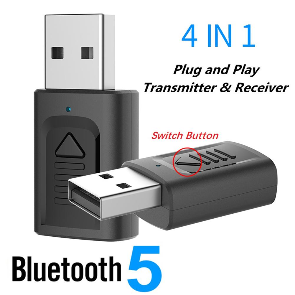 4 In 1 <font><b>Wireless</b></font> Bluetooth 5,0 Audio Sender Empfänger Tragbare Mini AUX USB Stereo Audio Adapter Für <font><b>TV</b></font> Auto PC kopfhörer image
