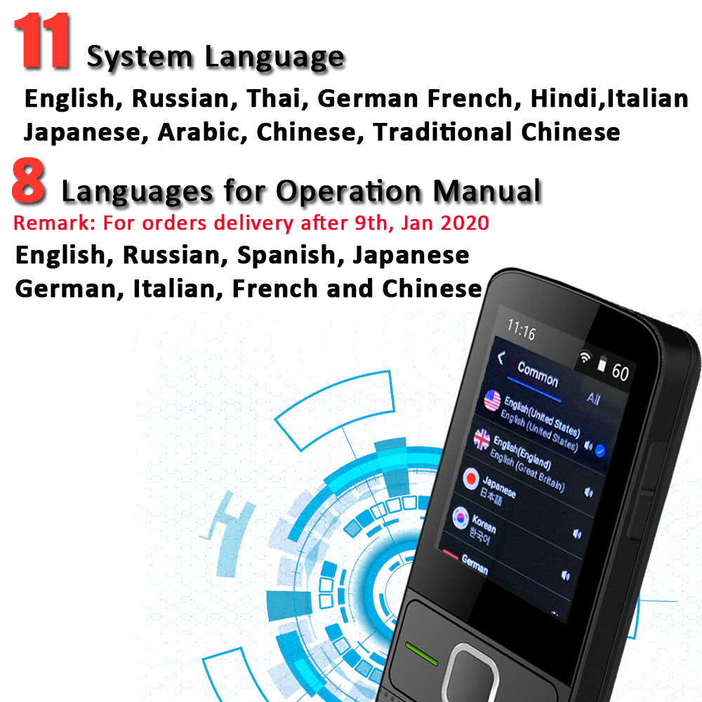 CTVMAN 137 Pocket Language Translator for 137 Online Language and 14 Offline Language with Smart Photo Voice and Text Translation in Real Time 5