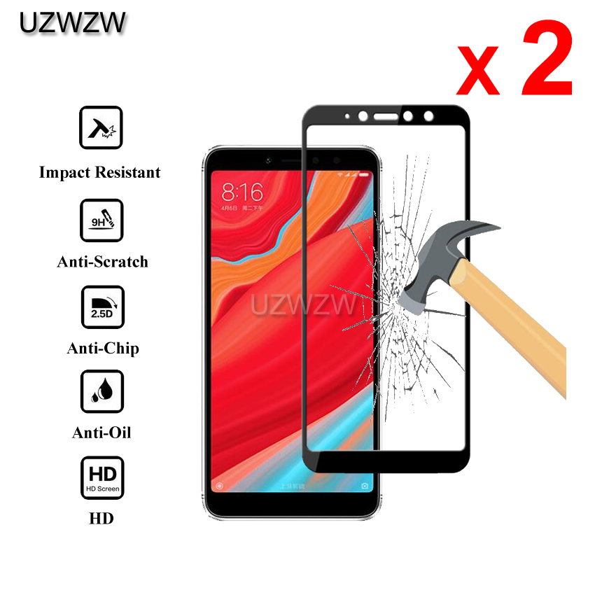 2pcs Tempered Glass For Xiaomi Redmi S2 Full Cover 2.5D Screen Protector Protective Tempered Glass For Xiaomi Redmi S2