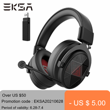 EKSA 5.8GHz Wireless Headphones E910 Gaming Headset with Microphone/ENC/7.1 Surround/Low Latency Headset Gamer for PS4/PC/TV
