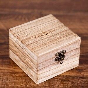Image 5 - Мужские часы BOBO BIRD, мужские роскошные брендовые деревянные наручные часы в деревянной коробке, мужские наручные часы, рождественский подарок для Него