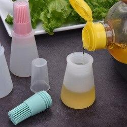 Szczotka do grilla szczotka do olejowania w wysokiej temperaturze Food Grade silikonowe pieczenie narzędzia do grillowania grill butelka oleju szczotka gadżety kuchenne