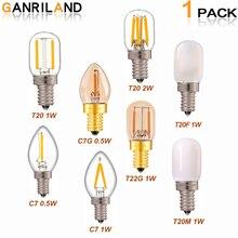 GANRILAND E14 Led Dimmbare Lampe E12 E14 220 V 0,5 W 1 W 2 W LED Lampe LED Filament Nacht licht Kronleuchter LED Edison Lampen C7 T20 T22