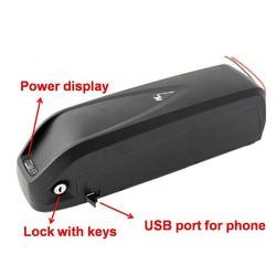 36V 48V 52V 13Ah 17ah 20ah nouveau Hailong 500W 750W 1000W e vélo batterie au lithium avec Port USB + chargeur avec moteur Bafang