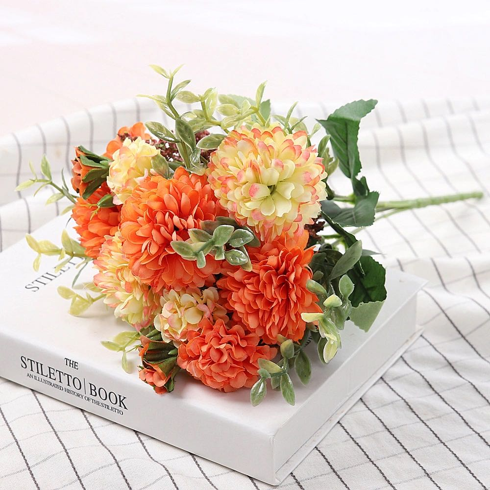 Peony Artificial Flowers High Quality Luxurious Bouquet Wedding Decoration for Home Table Decor Sky Blue Fake Flowers Hydrangea 9