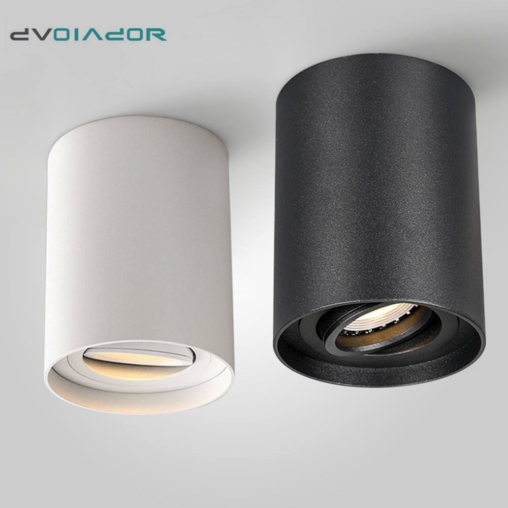 2019 NEW Surface Mounted LED Downlight Fixtures 5W 7W COB Spot Light With GU10 LED Bulb Replaceable Bedroom Kitchen Ceiling Lamp