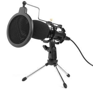 Image 2 - Video Microphone Kit USB Plug Home Stereo Condenser MIC Desktop Tripod for PC YouTube Video Skype Chatting Gaming Recording