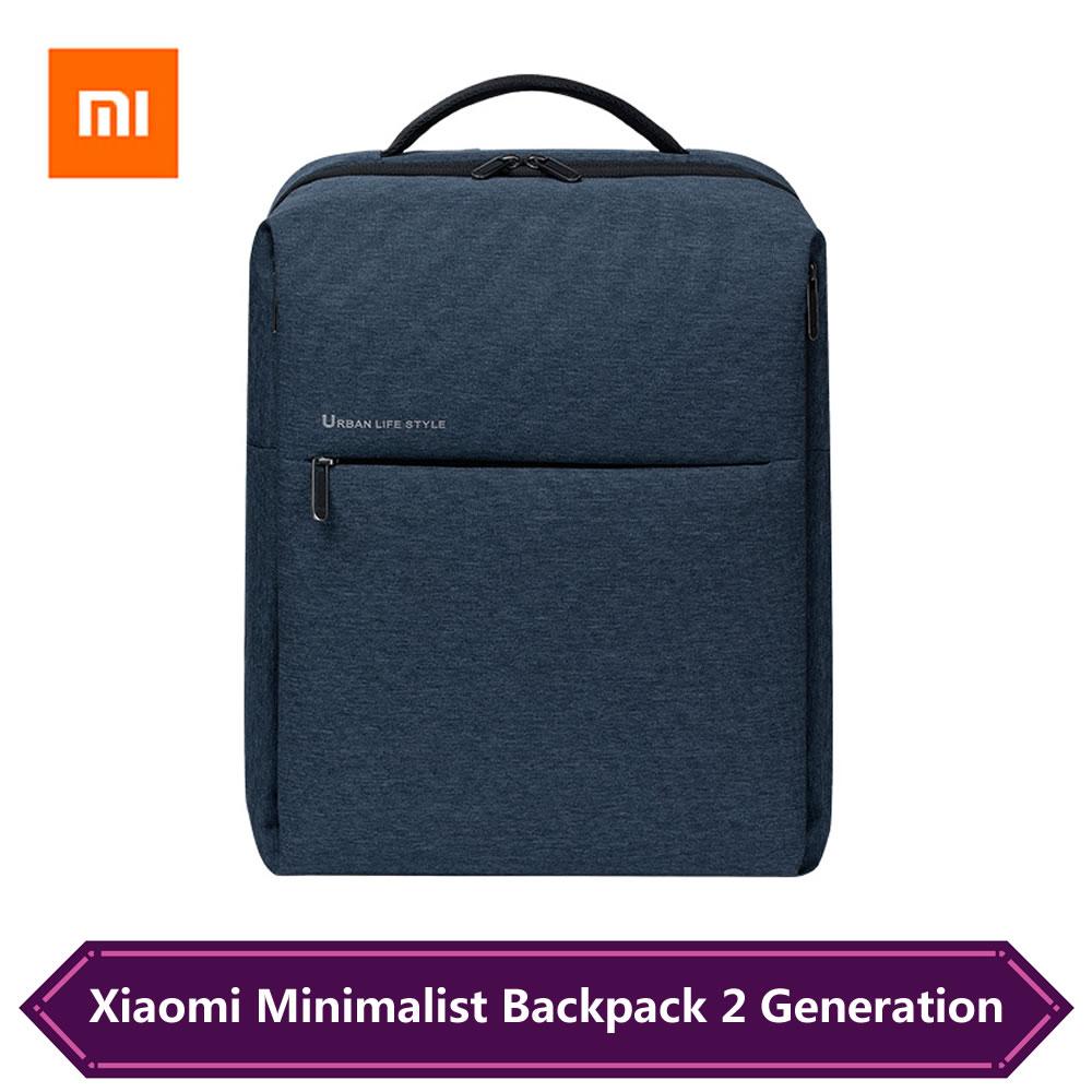 Original Xiaomi  Minimalist Urban Backpack 2 Generation 17L Large Capacity Travel Mi Backpack For 15.6 Inch Laptop Duffel Bag