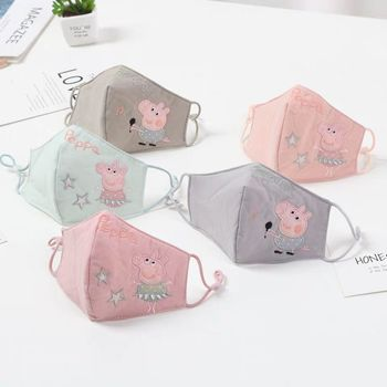 Peppa Pig One Piece children Anime Figure Masks Cute cartoon action cotton Face mask Holiday party stay healthy Dust