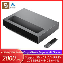 Original Youpin Fengmi Laser Projection TV 4K Cinema 150 Inch 2000 ANSI Lumens Smart 2.4G/5G Wifi Projector MIUI 3D Home Theater(China)