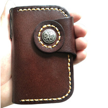 Hand Stitched Vegetable Tanned Leather Key Holder Durable Japanese Style Housekeeper Key Case