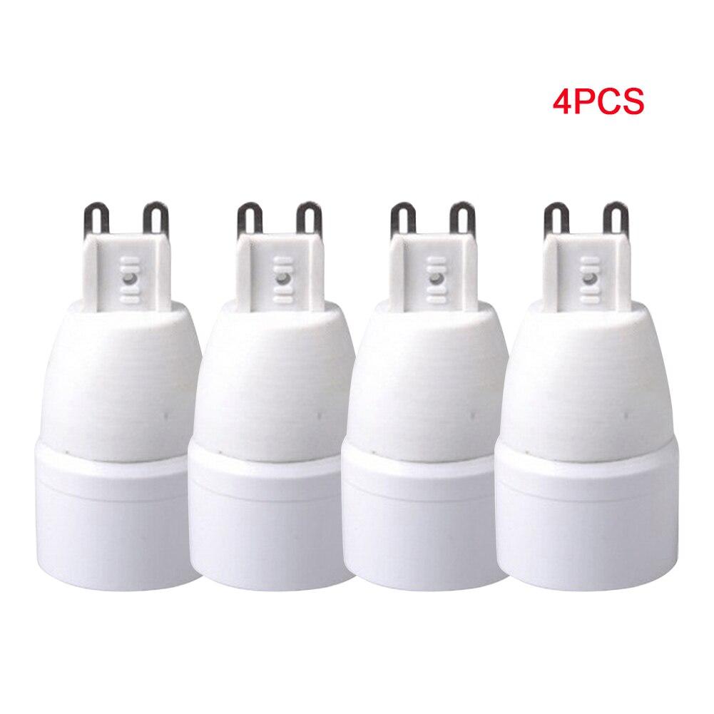 4Pcs Adapter Converter Energy Saving Practical Lamp Holder Bulb Socket Home G9 To E14 Hotel Base Easy Install Plug