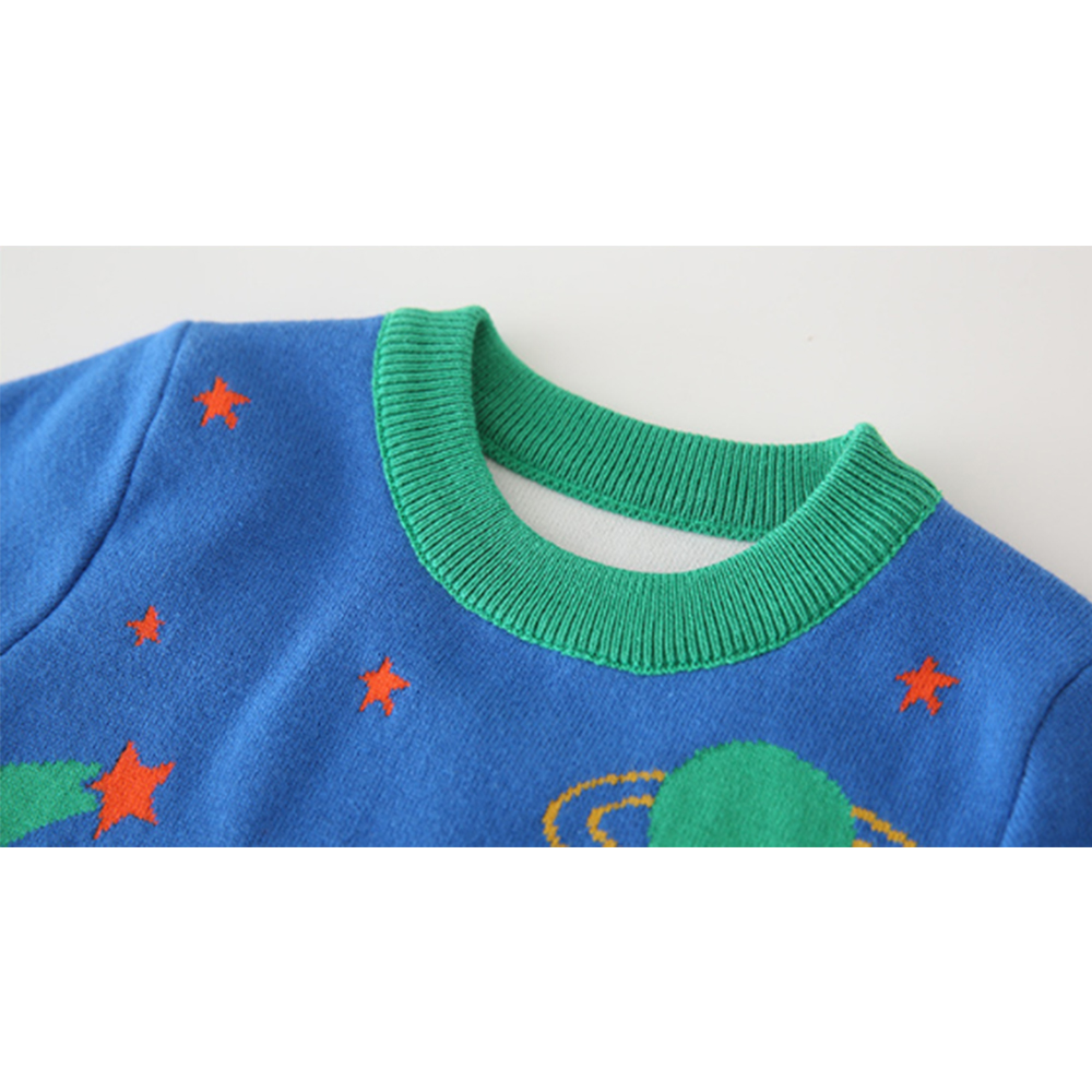 Mudkingdom Winter Kids Boys Knit Sweaters Toddler Cartoon Fashion Clothing Fall Children Pullover Clothes 4