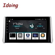 "Idoing 10.2 ""4G + 64G 2.5D QLED DSP araba radyo Android multimedya oynatıcı Toyota RAV 4 için 2019 GPS navigasyon Autoradio kafa ünitesi"