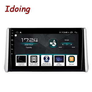 "Image 1 - Idoing 10.2 ""4G + 64G 2.5D QLED DSP araba radyo Android multimedya oynatıcı Toyota RAV 4 için 2019 GPS navigasyon Autoradio kafa ünitesi"