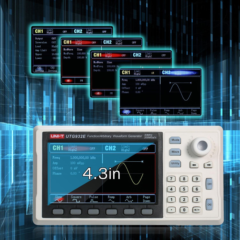 UNI-T UTG962E/932e функция произвольной формы генератора сигналов двухканальный 200 мкс/с 14-битный измеритель частоты генератор