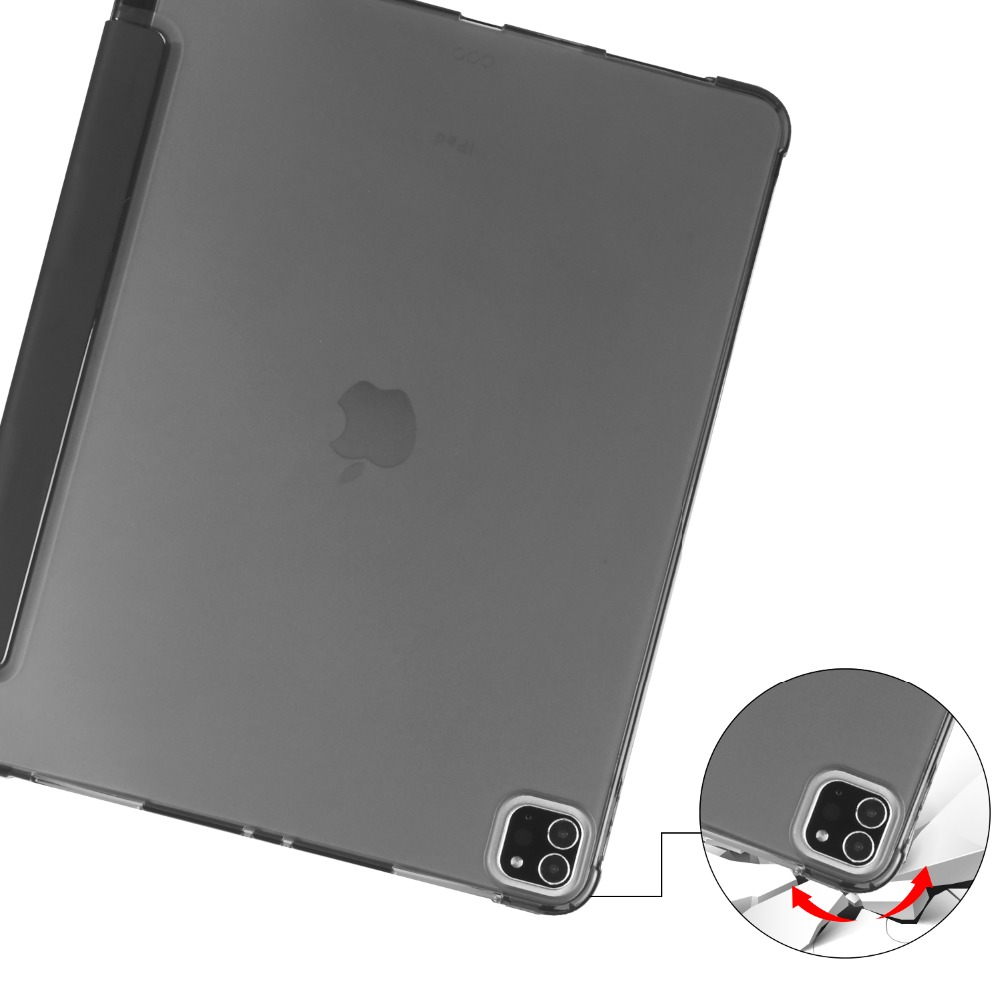 Soft TPU 9 2018 with Pencil Holder iPad for Apple Shell For Pro 12 Cover 2020 iPad Case