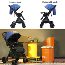 Baby Stroller Light Folding Two Way 4 Seasons Push Cart Portable Trolley Umbrella Pushchair Buggy Jogger Travel System For Kids