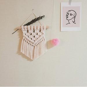 Image 4 - 北欧マクラメ壁掛け手織り綿小壁タペストリー子供のベッドルームヘッドボード写真の小道具自由奔放に生きる装飾