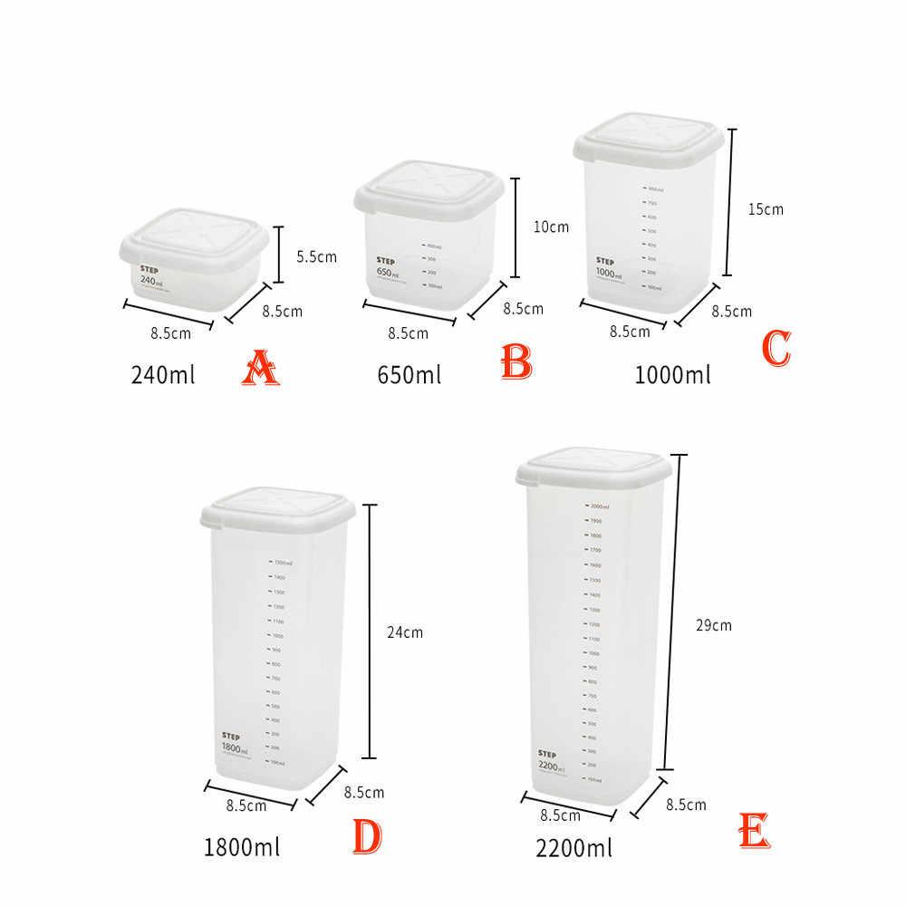 2200 ml plástico selado latas cozinha caixa de armazenamento transparente comida vasilha manter fresco claro caixa de armazenamento recipiente organizador caso